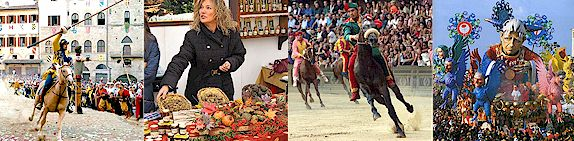 Tuscan festivals, fairs, jousts, processions, sagre, feste in Tuscany