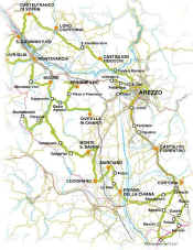 Arezzo location map